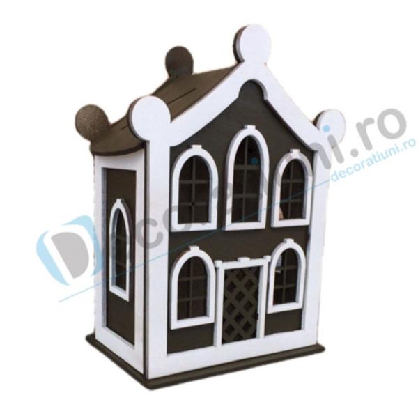 Cutie de dar pentru nunta din lemn - model Dulce Casa 0