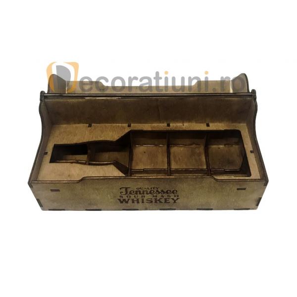 Cutie de lemn pentru sticla de whisky 6