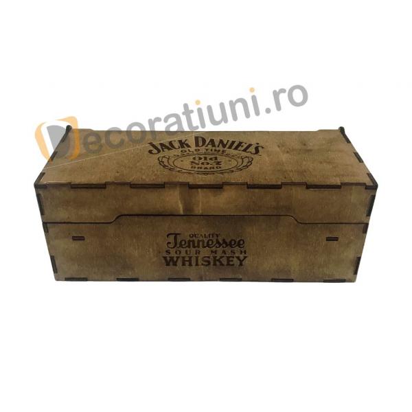 Cutie de lemn pentru sticla de whisky 5