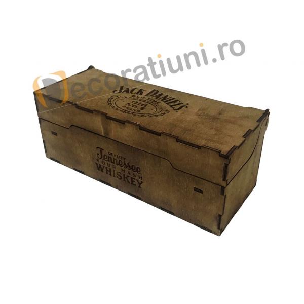 Cutie de lemn pentru sticla de whisky 4