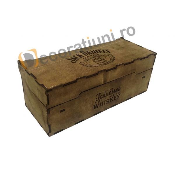 Cutie de lemn pentru sticla de whisky 3