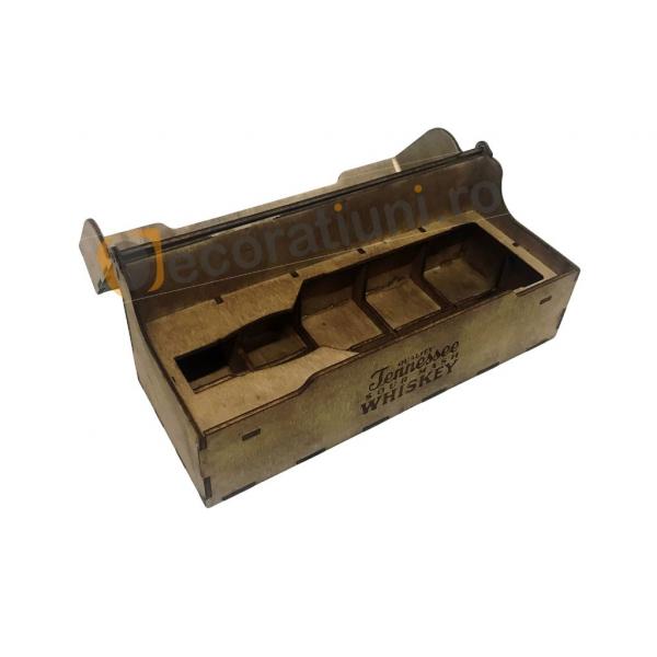Cutie de lemn pentru sticla de whisky 1