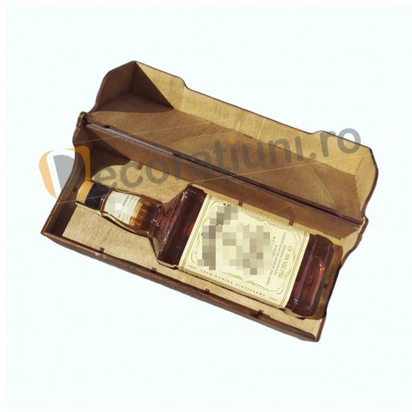 Cutie de lemn pentru sticla de whisky 0