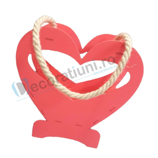 Cutie decorativa din lemn - model Heart 1