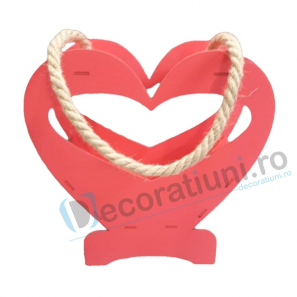 Cutie decorativa din lemn - model Heart 0