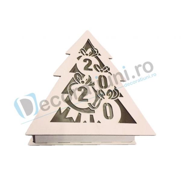 Cutie decorativa din lemn - model Tree 1
