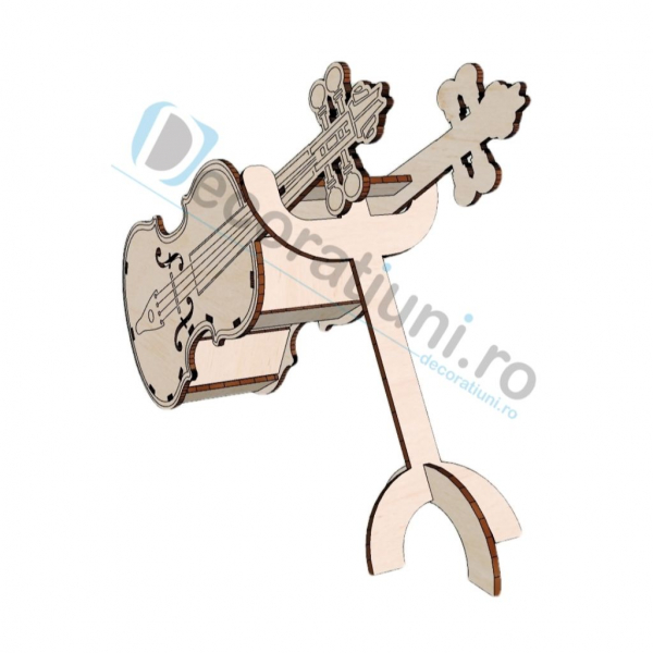 Cutie decorativa din lemn - model Violin 2