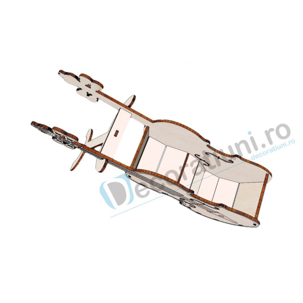 Cutie decorativa din lemn - model Violin 3