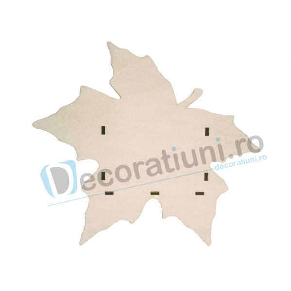 Cutie din lemn decorativa - model Leaf 1
