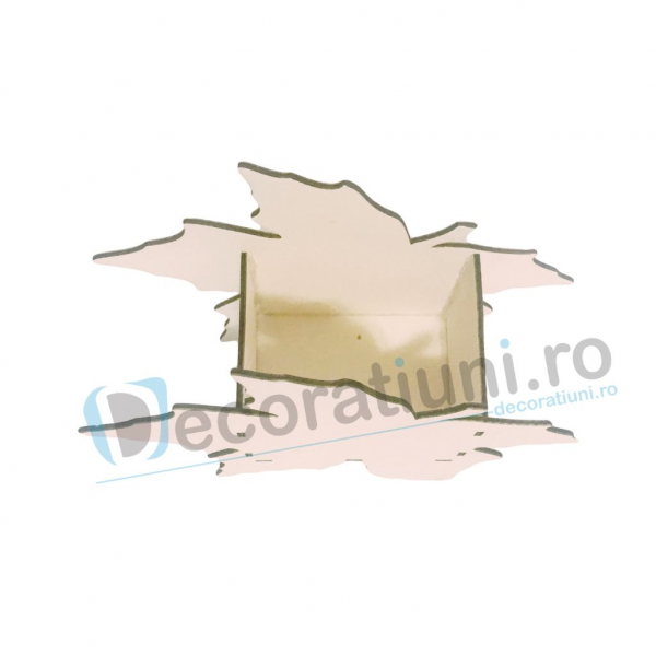 Cutie din lemn decorativa - model Leaf [3]