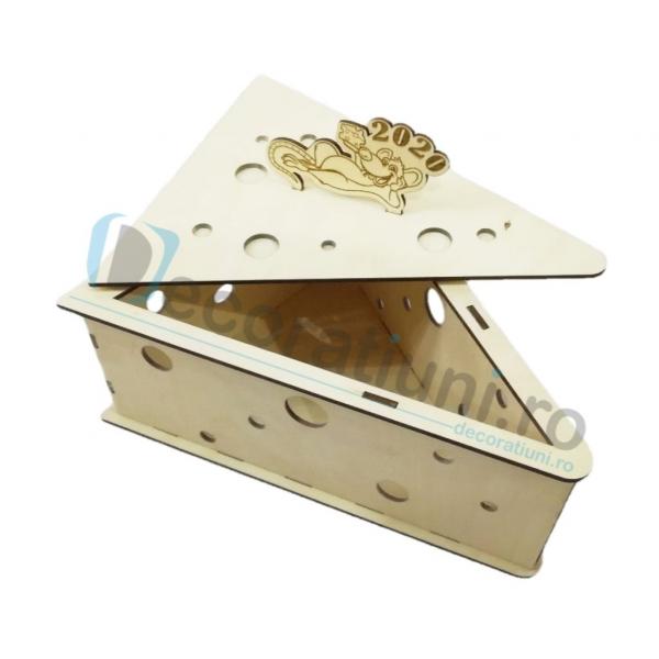 Cutie din lemn - model Chesse 1