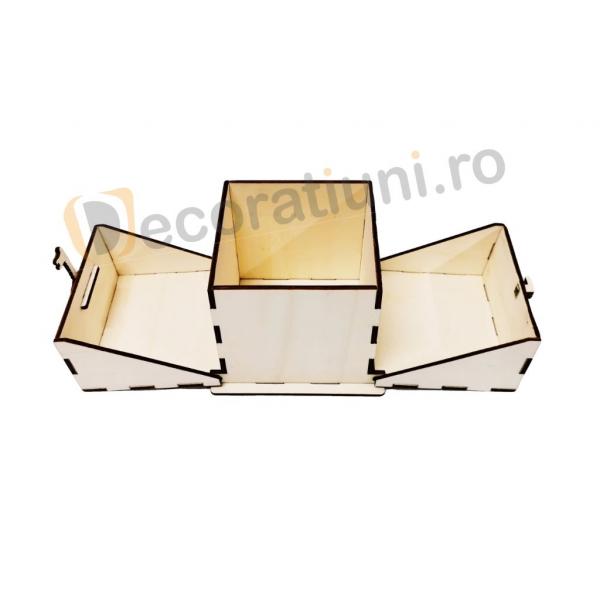 Cutie din lemn ornamentala - model Treasure 1