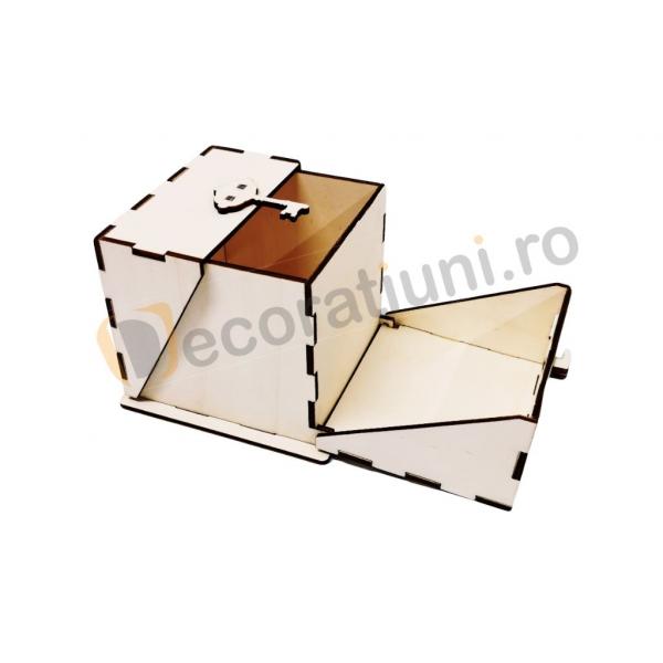 Cutie din lemn ornamentala - model Treasure 4