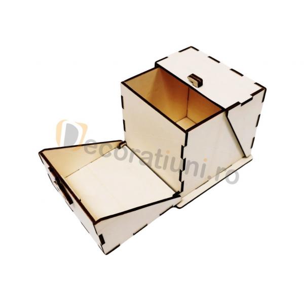 Cutie din lemn ornamentala - model Treasure 5