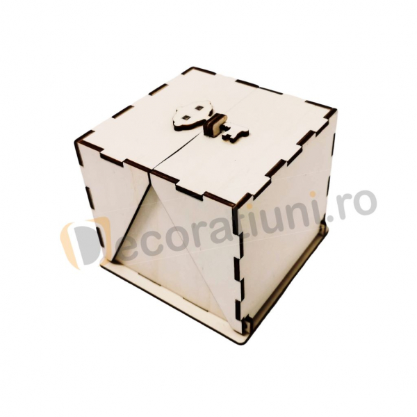 Cutie din lemn ornamentala - model Treasure 0