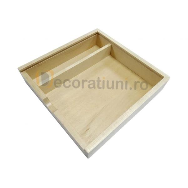 Cutie din lemn pentru fotografii cu stick usb - lemn artar 1
