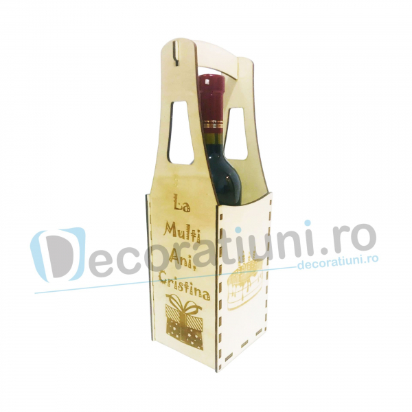 Cutie din lemn vin - model Piont 0