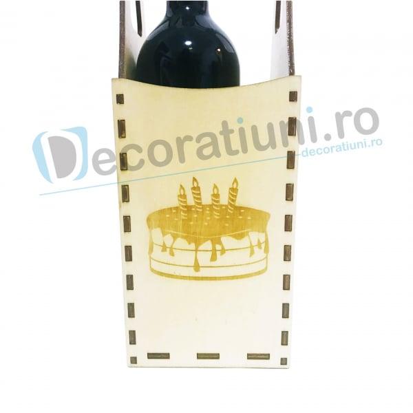 Cutie din lemn vin - model Piont 6
