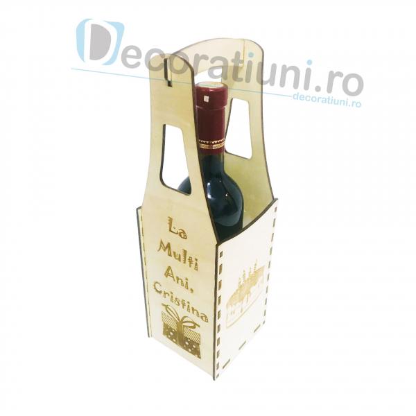 Cutie din lemn vin - model Piont 2