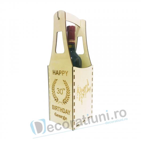 Cutie din lemn vin - model Piont 3