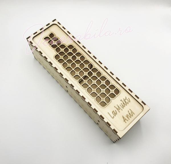 Cutie din lemn vin - model Roua 0