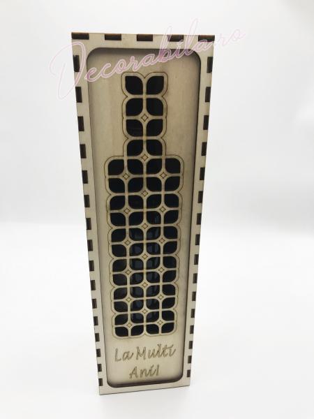 Cutie din lemn vin - model Roua 2