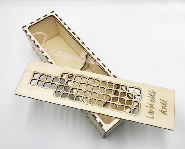 Cutie din lemn vin - model Roua 1