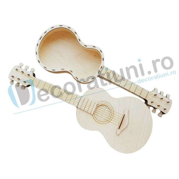 Cutie ornament din lemn - model Guitar 1
