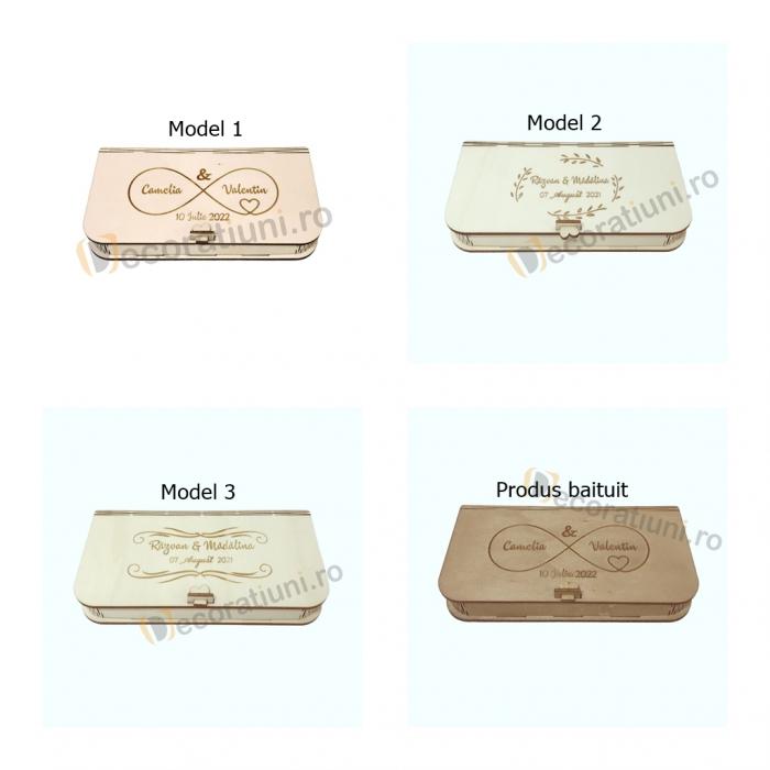 Cutie pentru fotografii si stick usb din lemn 3