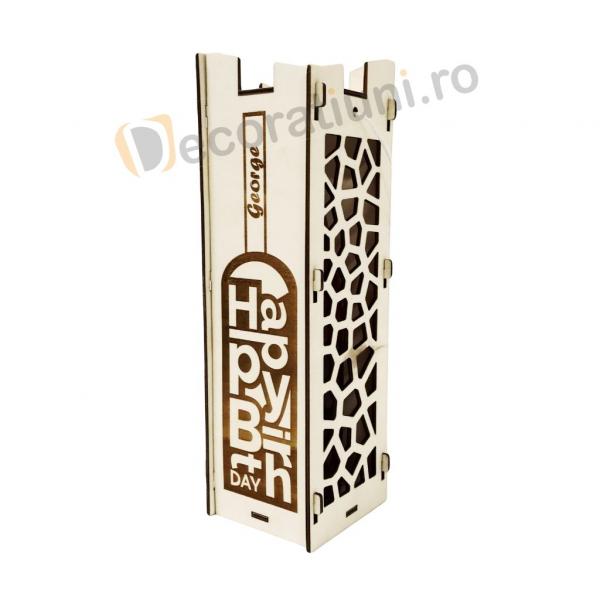 Cutie pentru vin din lemn - model Moralia 2