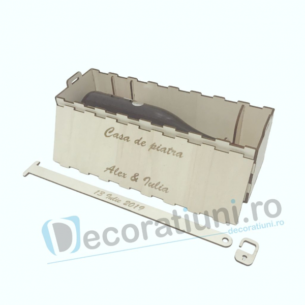 Cutie vin din lemn - model Davino 4