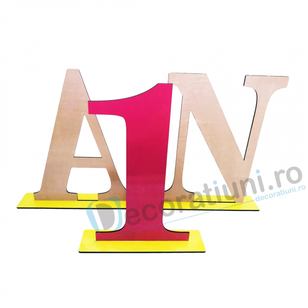 Decoratiune aniversara 1 an - model My Birthday 1