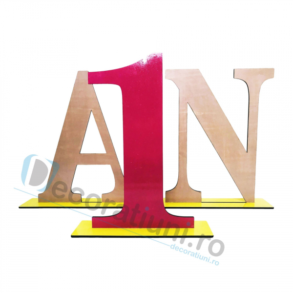 Decoratiune aniversara 1 an - model My Birthday 0