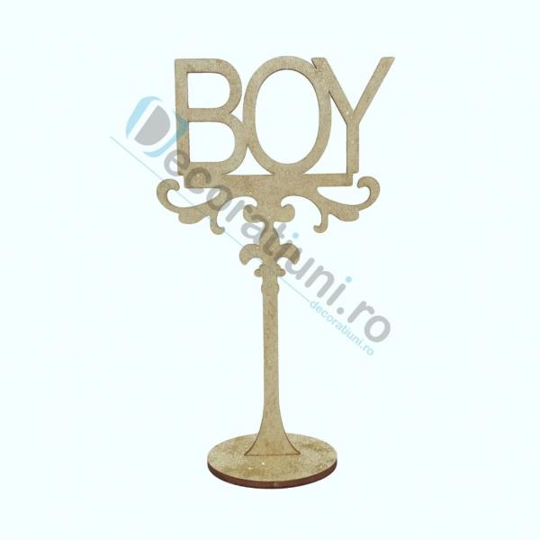 Decoratiune din lemn pentru botez - model BOY 0