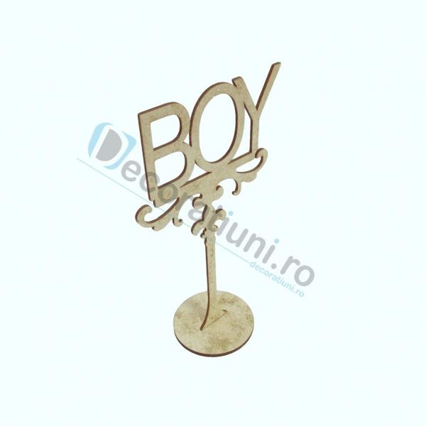 Decoratiune din lemn pentru botez - model BOY 1