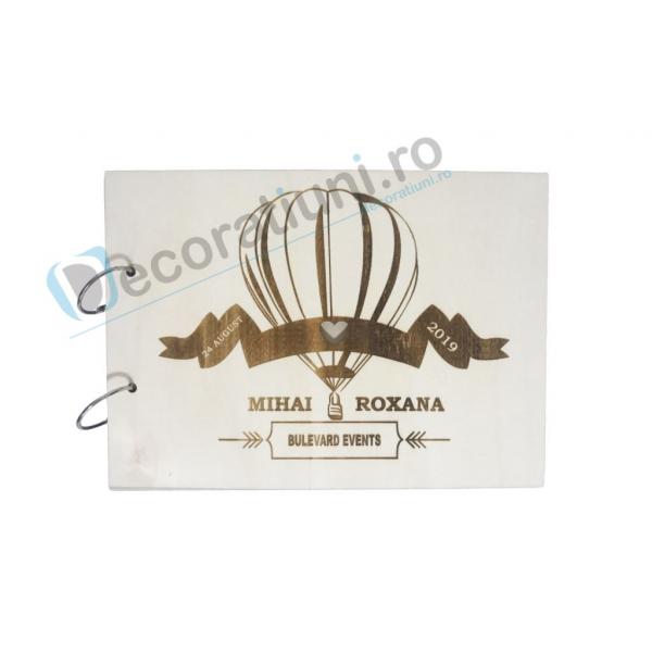 Guestbook din lemn personalizat, guestbook nunta - model balon 0