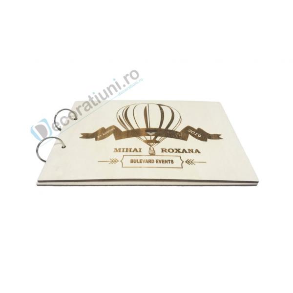 Guestbook din lemn personalizat, guestbook nunta - model balon 1