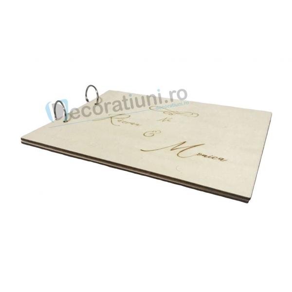 Guestbook din lemn personalizat, guestbook nunta - model iubire infinita 3