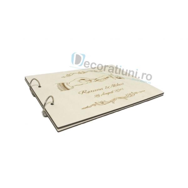 Guestbook din lemn personalizat, guestbook nunta - model maini 2