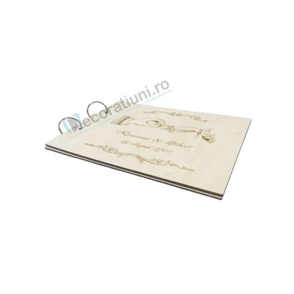Guestbook din lemn personalizat, guestbook nunta - model maini 3