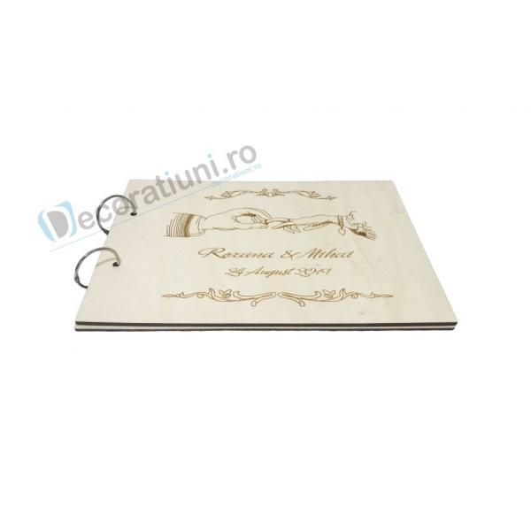 Guestbook din lemn personalizat, guestbook nunta - model maini 1