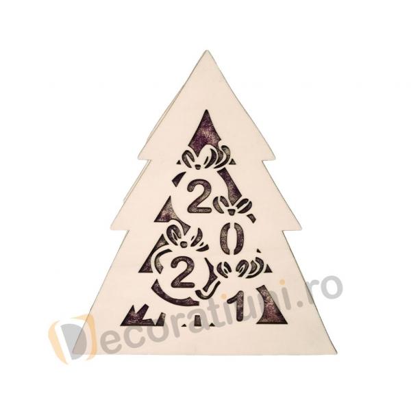 Cutie din lemn pentru cadou de Craciun - model bradut 5