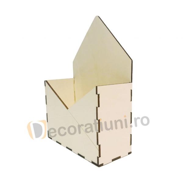 Cutie din lemn - model plic 2