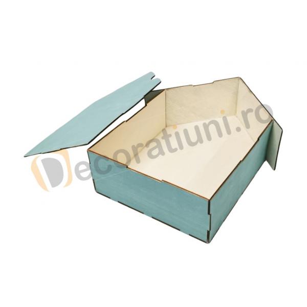 Cutie din lemn pentru cadouri - model casa [3]