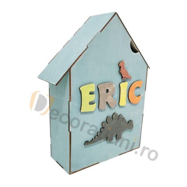 Cutie din lemn pentru cadouri - model casa [1]
