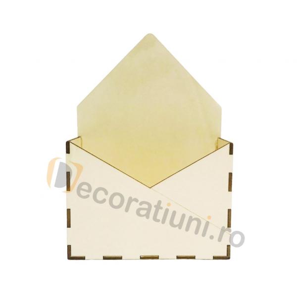 Cutie din lemn - model plic 1