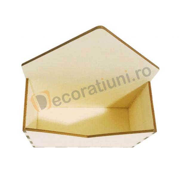 Cutie din lemn - model plic 3