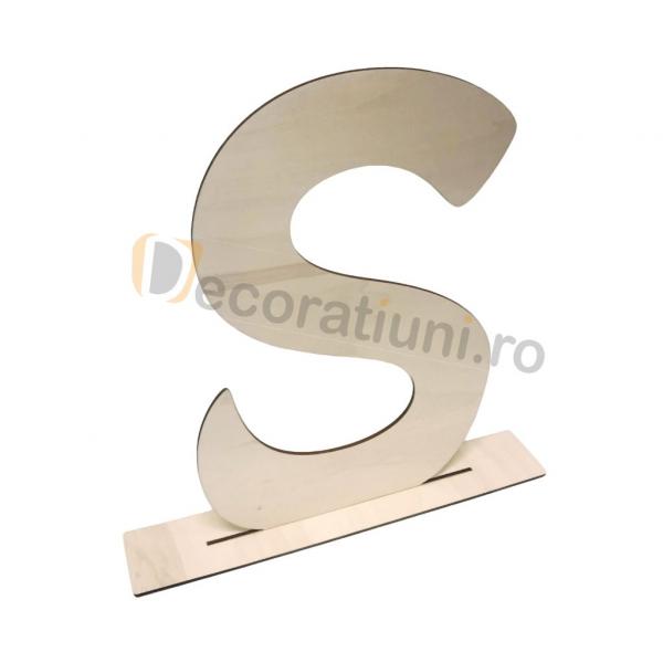 Litere decorative din lemn - model Big Letters 2