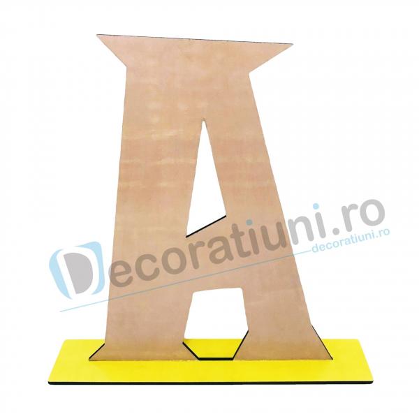 Litere decorative din lemn - model Big Letters 1