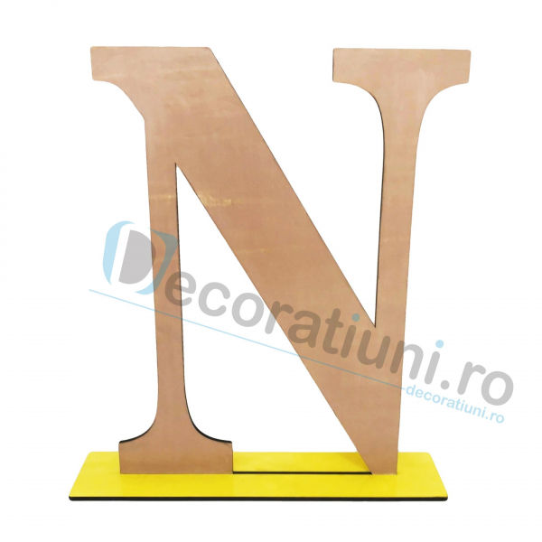 Litere decorative din lemn - model Big Letters 6